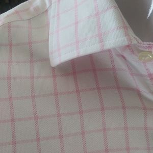 H&M Pink Window Pane Shirt